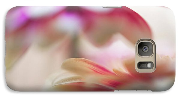 Galaxy Case featuring the photograph Two Souls 1. Macro Gerbera by Jenny Rainbow