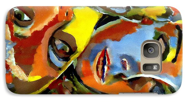 Galaxy Case featuring the painting Two Souls by Helena Wierzbicki