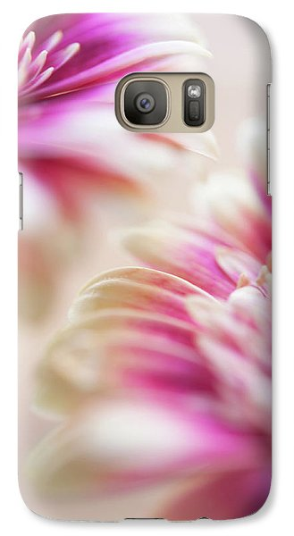 Galaxy Case featuring the photograph Two Souls. Macro Gerbera by Jenny Rainbow