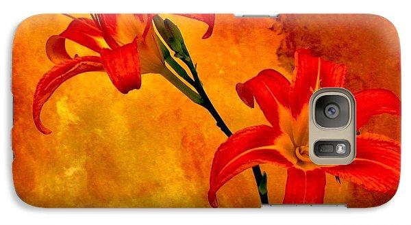 Galaxy Case featuring the digital art Two Tigerlilies by Marsha Heiken