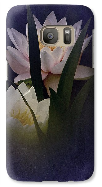 Galaxy Case featuring the photograph Two Water Lilies by Richard Cummings