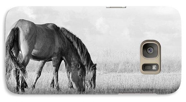 Galaxy Case featuring the photograph Two Wild Mustangs by Bob Decker