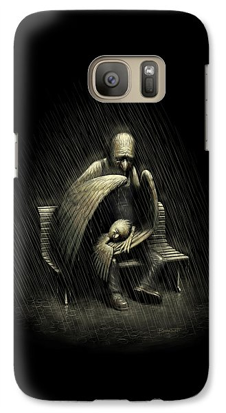 Galaxy Case featuring the digital art Two Wings And A Prayer by Ben Hartnett