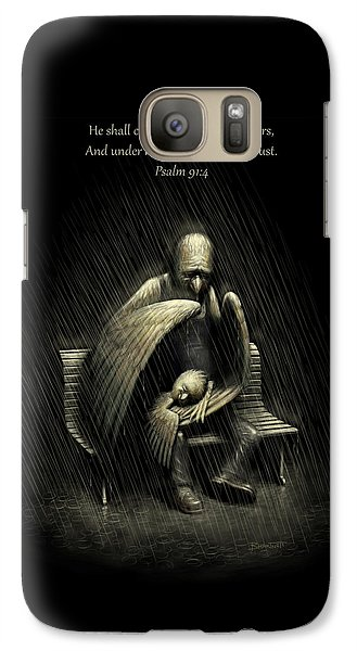 Galaxy Case featuring the digital art Two Wings And A Prayer - With Psalm 91 by Ben Hartnett