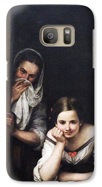 Galaxy Case featuring the painting Two Women At Window by Pg Reproductions