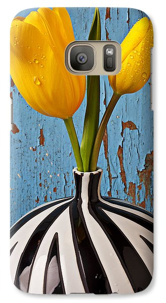 Tulip Galaxy S7 Case - Two Yellow Tulips by Garry Gay