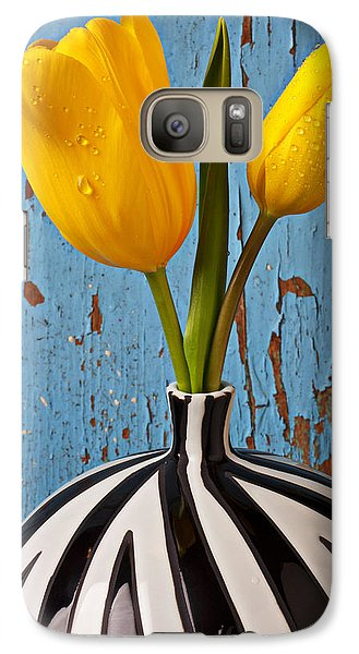 Flowers Galaxy S7 Case - Two Yellow Tulips by Garry Gay