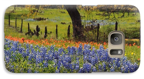 Galaxy Case featuring the painting Tx Tradition, Bluebonnets by Lisa Spencer