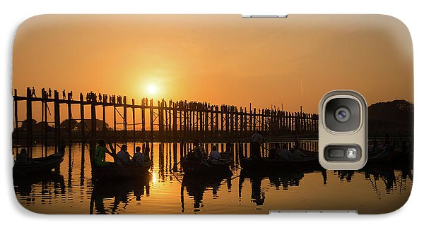 Burmese Python Galaxy S7 Case - U Bein Bridge At Sunset by Delphimages Photo Creations