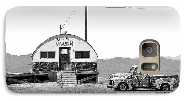 Galaxy Case featuring the photograph U - We Wash - Death Valley by Mike McGlothlen