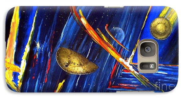 Galaxy Case featuring the painting UFO by Arturas Slapsys