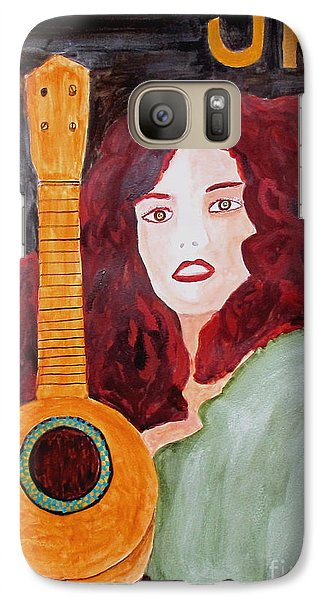 Galaxy Case featuring the painting Uke by Sandy McIntire