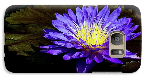 Galaxy Case featuring the photograph Ultra Violet Tropical Waterlily by Julie Palencia