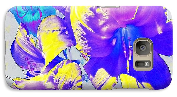 Galaxy Case featuring the photograph Ultraviolet Daylilies by Shawna Rowe