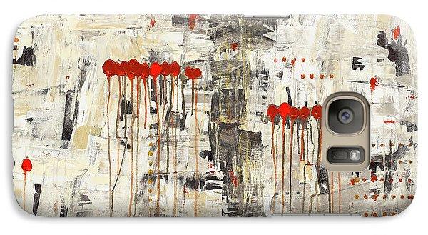 Galaxy Case featuring the painting Un Pour Tous by Carmen Guedez