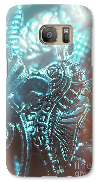 Seahorse Galaxy S7 Case - Under Blue Seas by Jorgo Photography - Wall Art Gallery