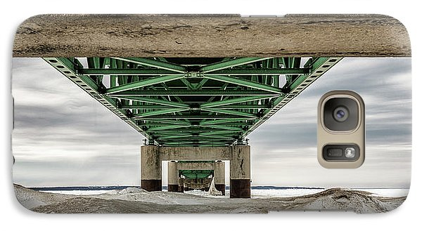 Galaxy Case featuring the photograph Under Mackinac Bridge Winter by John McGraw