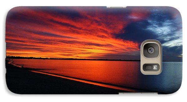 Galaxy Case featuring the photograph Under The Blood Red Sky by Gary Crockett