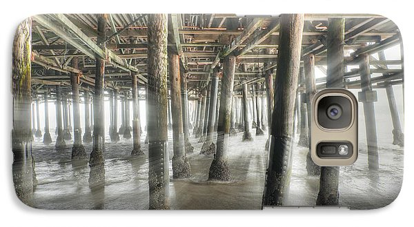Galaxy Case featuring the photograph Under The Boardwalk Into The Light by David Zanzinger