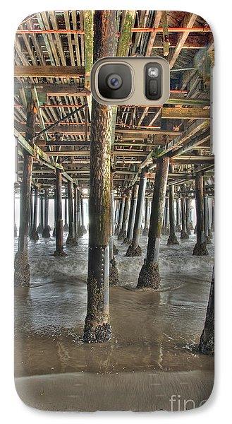 Galaxy Case featuring the photograph Under The Boardwalk Pier Sunbeams  by David Zanzinger