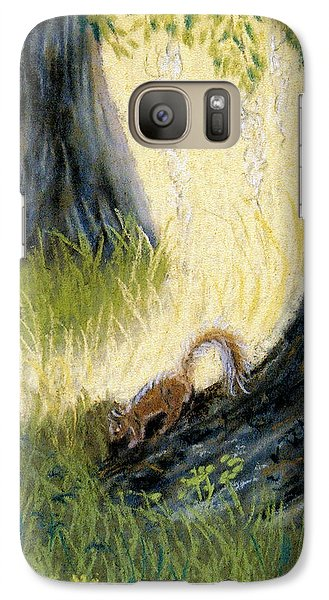 Galaxy Case featuring the pastel Under The Mossy Oak by Jan Amiss