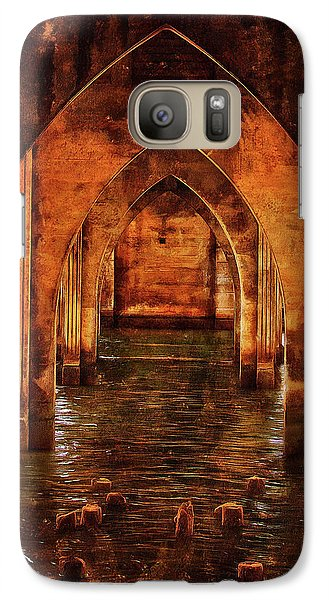 Galaxy Case featuring the photograph Under The Siuslaw River Bridge by Thom Zehrfeld