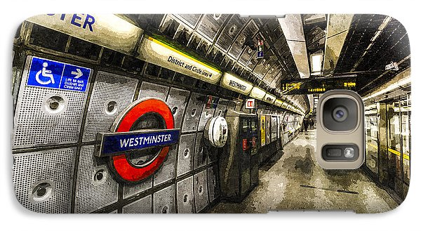 Underground London Art Galaxy S7 Case by David Pyatt