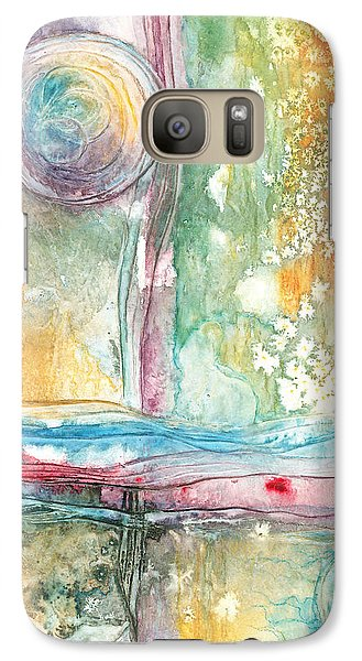 Galaxy Case featuring the painting Undertow by Casey Rasmussen White
