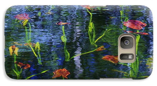 Galaxy Case featuring the photograph Underwater Lilies by Sean Sarsfield