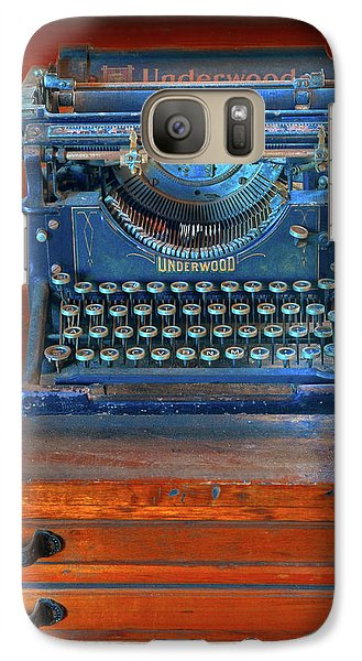 Galaxy Case featuring the photograph Underwood Typewriter by Dave Mills