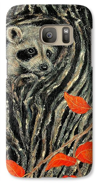 Galaxy Case featuring the painting Unexpected Visitor by Susan DeLain
