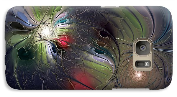 Galaxy Case featuring the digital art Unfading by Karin Kuhlmann