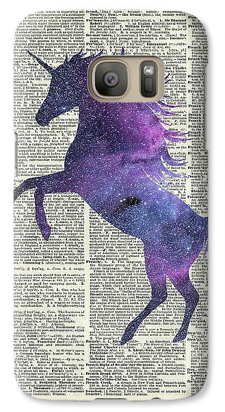 Unicorn In Space Galaxy S7 Case