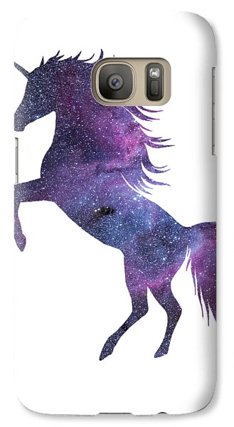 Unicorn In Space-transparent Background Galaxy S7 Case