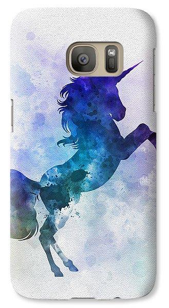 Unicorn Galaxy S7 Case by Rebecca Jenkins