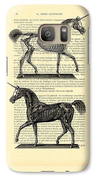 Unicorns Anatomy Galaxy S7 Case by Madame Memento