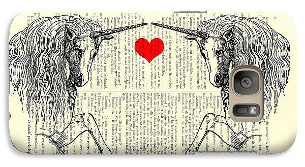 Unicorns Love Galaxy S7 Case by Madame Memento