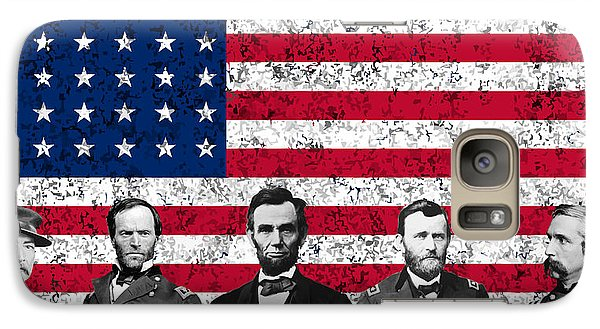 Union Heroes And The American Flag Galaxy Case by War Is Hell Store