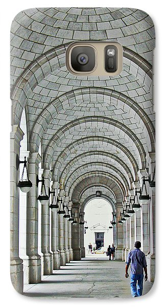 Galaxy Case featuring the photograph Union Station Exterior Archway by Suzanne Stout