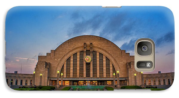 Galaxy Case featuring the photograph Union Terminal At Dawn by Rob Amend