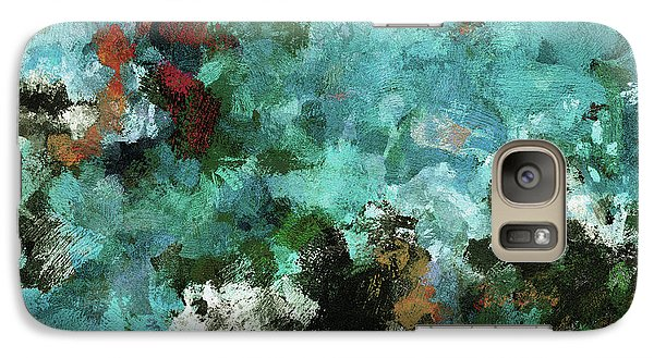 Galaxy Case featuring the painting Unique Abstract Art / Landscape Painting by Ayse Deniz