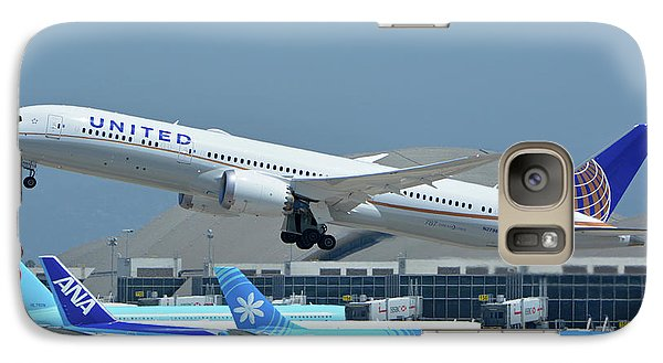Galaxy Case featuring the photograph United Boeing 787-9 N27965 Los Angeles International Airport May 3 2016 by Brian Lockett