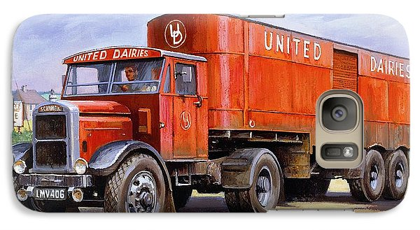 Galaxy Case featuring the painting United Dairies Scammell. by Mike  Jeffries