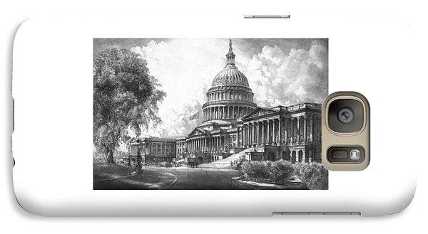 United States Capitol Building Galaxy S7 Case by War Is Hell Store