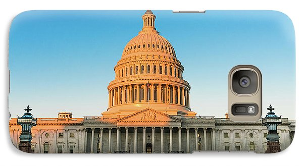 Lincoln Memorial Galaxy S7 Case - United States Capitol  by Larry Marshall