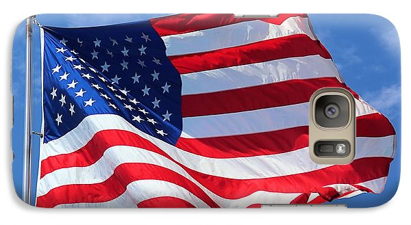 Galaxy Case featuring the photograph United States Flag by Elizabeth Budd