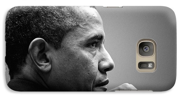 United States President Barack Obama Bw Galaxy S7 Case