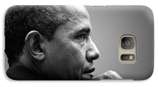 United States President Barack Obama Bw Galaxy S7 Case by Celestial Images