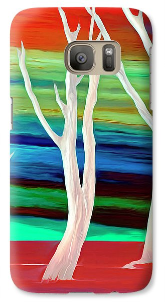 Galaxy Case featuring the photograph United Trees by Munir Alawi