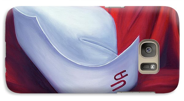 Galaxy Case featuring the painting University Of Alabama School Of Nursing by Marlyn Boyd